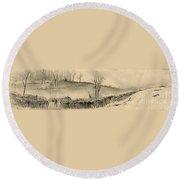 Battle Of Kernstown, 1862 Round Beach Towel