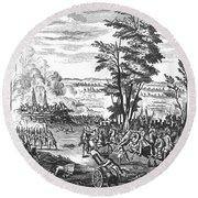 Battle Of Malplaquet, 1709 Round Beach Towel