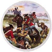 Battle Of Sedgemoor Round Beach Towel