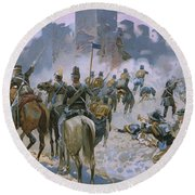 Battle Of Solferino And San Martino Round Beach Towel