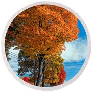 Battle Of The Maples 2 Round Beach Towel