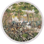 Battle Of The Wilderness May 1864 Round Beach Towel