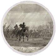 Battle Of Williamsburg Round Beach Towel