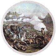 Battle Of Winchester, Round Beach Towel