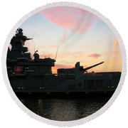 Battleship Round Beach Towel