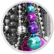 Baubles Bangles And Beads Round Beach Towel