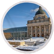 Bavarian State Chancellery Round Beach Towel