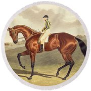Bay Middleton Winner Of The Derby In 1836 Round Beach Towel