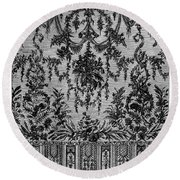 Bayeux Lace, C1800 Round Beach Towel