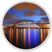 Bayonne Bridge Round Beach Towel by Paul Ward