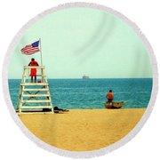 Baywatch Round Beach Towel