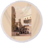 Bazaar Of The Coppersmiths Cairo Round Beach Towel