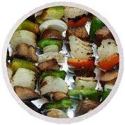 Bbq Grilled Vegetables Round Beach Towel