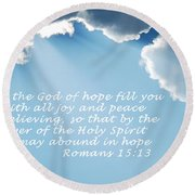 Be Filled 1762 Round Beach Towel