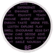 BE Round Beach Towel