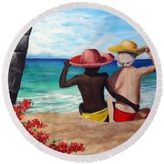 Beach Buddies Round Beach Towel