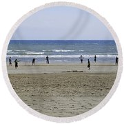 Beach Cricket - Bridlington Round Beach Towel