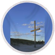 Beach Cross Round Beach Towel