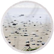 Beach Detail On Pacific Ocean Coast Of Canada Round Beach Towel