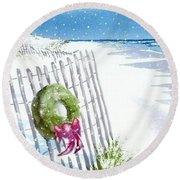 Beach Holiday Round Beach Towel