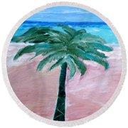 Beach Palm Round Beach Towel
