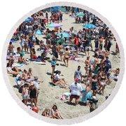 Beach People Round Beach Towel