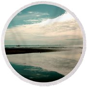 Beach Reflection Round Beach Towel