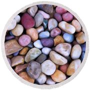 Beach Rocks 2 Round Beach Towel