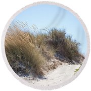 Beach Sand Dunes I Round Beach Towel