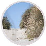Beach Sand Dunes II Round Beach Towel