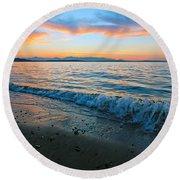 Beach Sunset Round Beach Towel
