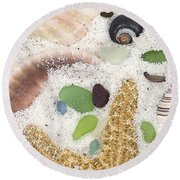 Beach Treasures Round Beach Towel