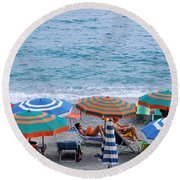 Beach Umbrellas 2 Round Beach Towel