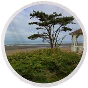 Beachside Gazebo Round Beach Towel