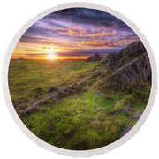 Beacon Hill Sunrise 11.0 Round Beach Towel