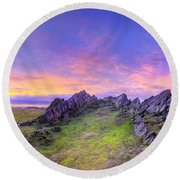Beacon Hill Sunrise 3.0 Pano Round Beach Towel