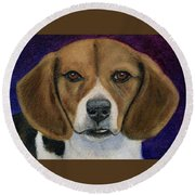 Beagle Puppy Round Beach Towel