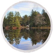 Bear Creek Lake Round Beach Towel