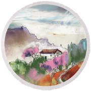 Beautiful Andalusia 03 Round Beach Towel