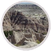 Beautiful Badlands Round Beach Towel