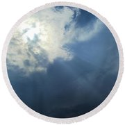 Beautiful Beams Round Beach Towel