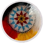 Beautiful Feathers Round Beach Towel