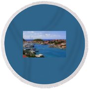 Beautiful Gustavia Round Beach Towel