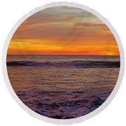 Beautiful Waves Round Beach Towel
