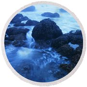 Beauty In The Ebb And Flow Round Beach Towel