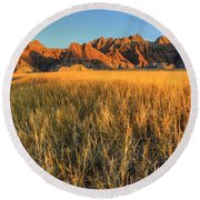 Beauty Of The Badlands Round Beach Towel