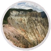Beauty Of The Grand Canyon In Yellowstone Round Beach Towel