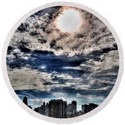 Beauty Of The Morning Sky Round Beach Towel