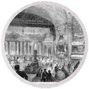 Beaux Arts Ball, 1861 Round Beach Towel