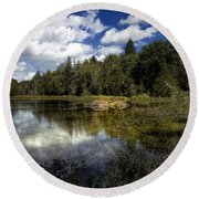 Beaver Lodge Round Beach Towel